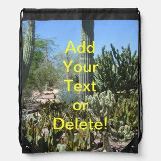 Arizona Cactus Garden Drawstring Bag