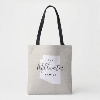 Arizona Family Monogram State Tote Bag