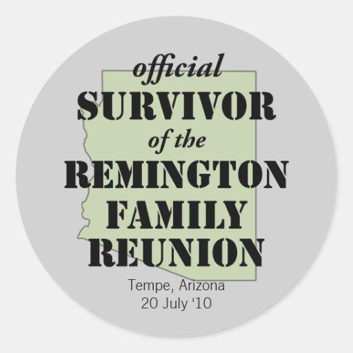 Arizona Family Reunion Survivor Sticker (green)