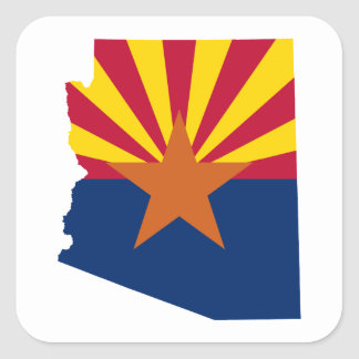 Arizona Flag Colours Square Sticker