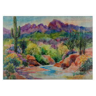 Arizona Landscape Cutting Board