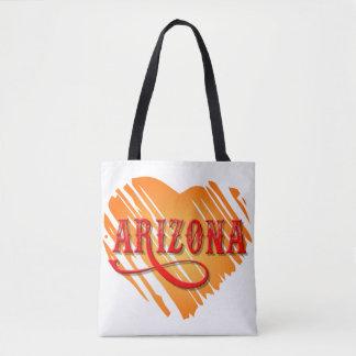 Arizona Orange Heart Cross Over Bag