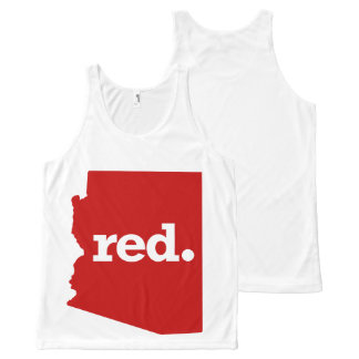 ARIZONA RED STATE All-Over PRINT SINGLET