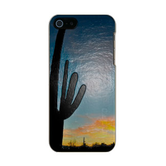Arizona Saguaro Cactus  Sunset Plastic 3d Art Incipio Feather® Shine iPhone 5 Case