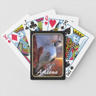 Arizona Sedona Gambel's Quail Playing Cards