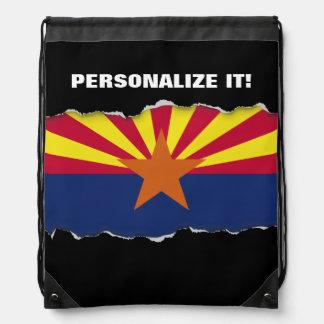 Arizona State Flag Drawstring Bag