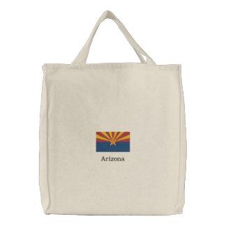 Arizona State Flag Embroidered Tote Bag