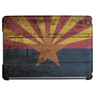 Arizona State Flag on Old Wood Grain