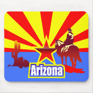 Arizona State Flag Vintage Drawing Mouse Pad