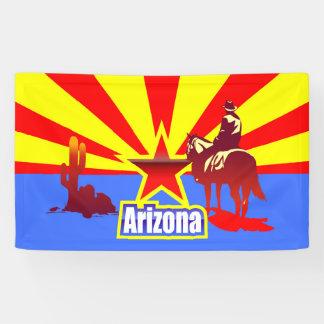 Arizona State Flag Vintage Illustration