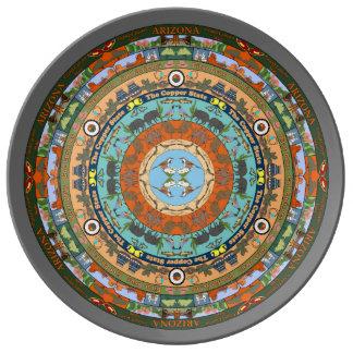 Arizona State Mandala Porcelain Plate