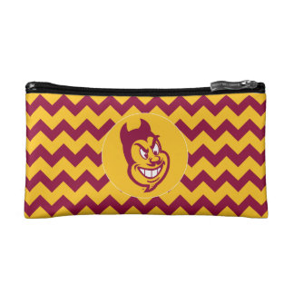 Arizona State Sparky | Chevron Pattern Makeup Bag