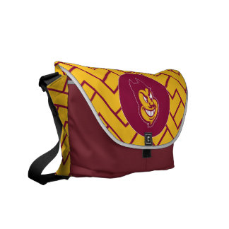Arizona State Sparky | Fret Pattern Courier Bags