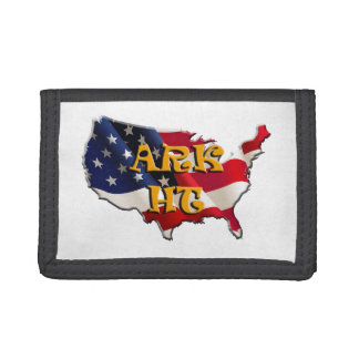 ARK HT the USA map&flag Trifold Wallet
