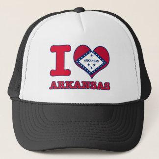 arkansas design trucker hat