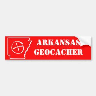 Arkansas Geocacher Razorback Red Bumper Sticker