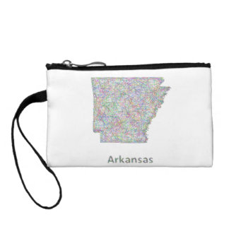 Arkansas map coin wallet