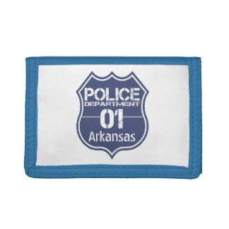 Arkansas Police Department Shield 01 Tri-fold Wallet