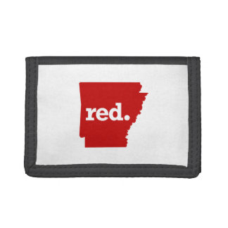 ARKANSAS RED STATE TRIFOLD WALLET