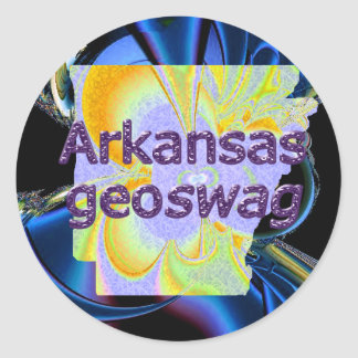 Arkansas State Geocaching Supplies Sticker Geoswag