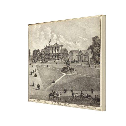 Arlington House, Ocean Grove, NJ Stretched Canvas Print