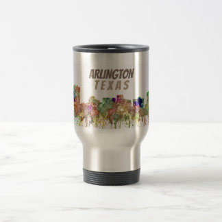 Arlington Texas Skyline SG-Faded Glory Travel Mug