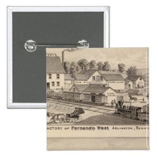 Arlington Vermont Pinback Buttons