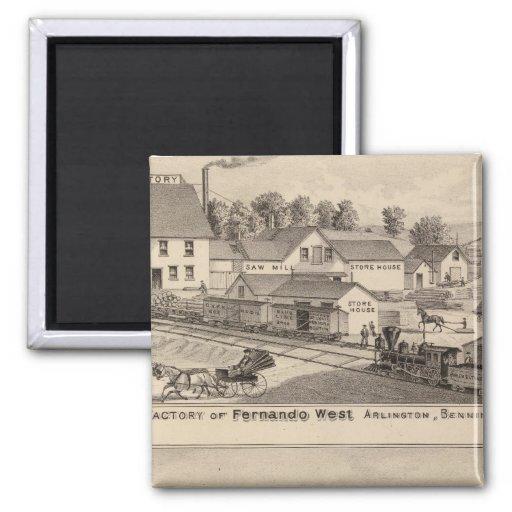Arlington Vermont Fridge Magnet