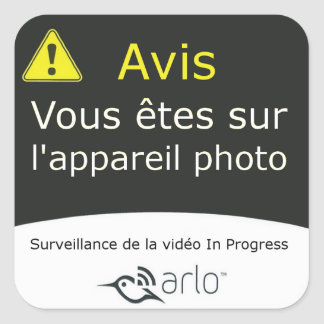 Arlo - French Translation Square Sticker