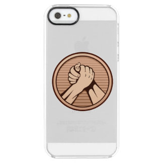 Arm wrestling Bronze Clear iPhone SE/5/5s Case