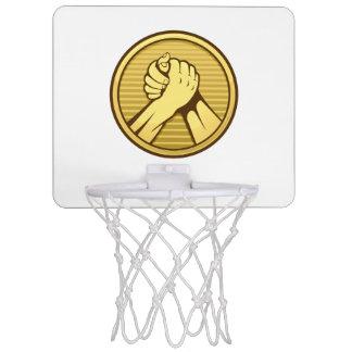 Arm wrestling Gold Mini Basketball Hoop
