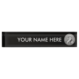 Arm wrestling Silver Nameplate