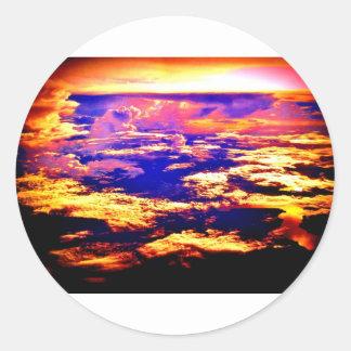 Armageddon or Salvation? Classic Round Sticker