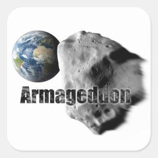Armageddon Square Sticker