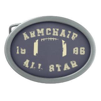 Armchair All Star Football Oval Belt Buckles