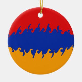 Armenia Gnarly Flag Double-Sided Ceramic Round Christmas Ornament