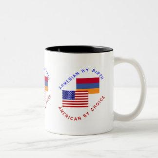 Armenian By Birth, American By Choice Two-Tone Coffee Mug