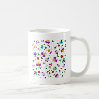 Armenian-inspired Colorful Swirling Flower Pattern Coffee Mug