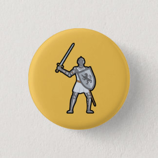 Armored Medieval Knight Button