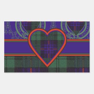 Armstrong clan Plaid Scottish tartan Rectangular Sticker