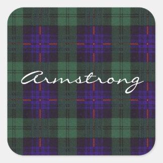 Armstrong clan Plaid Scottish tartan Square Sticker
