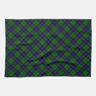 Armstrong clan tartan blue green plaid tea towel
