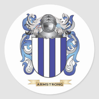Armstrong Coat of Arms (Family Crest) Round Sticker