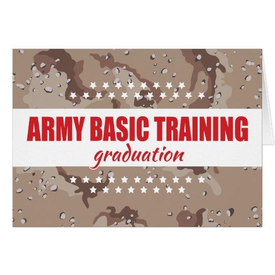 Army Basic Training Graduation Congratulations Card