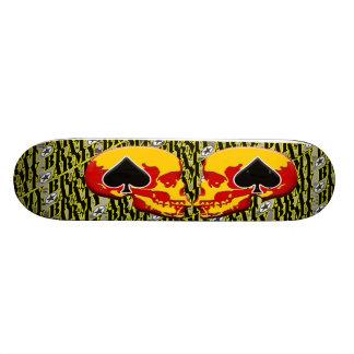 Army Brat Skull and Ace Design 21.6 Cm Skateboard Deck