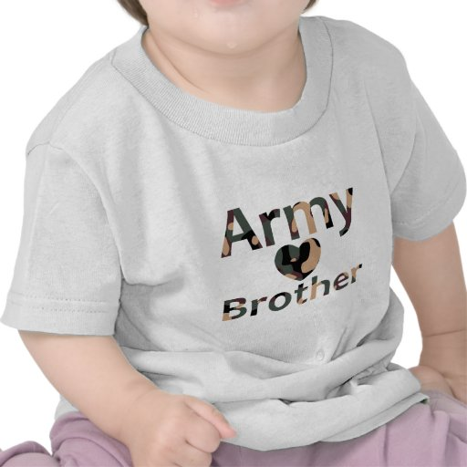 Army Brother Heart Camo Tees