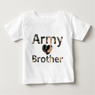 Army Brother Heart Camo T Shirts