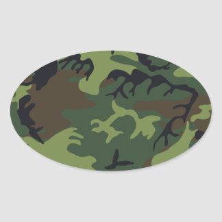 Army Camo Oval Sticker