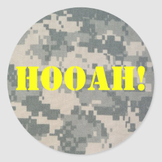 Army Camouflage ACU Pattern Classic Round Sticker