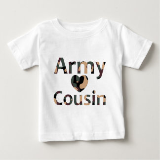 Army Cousin Heart Camo T Shirt